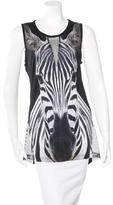 Torn By Ronny Kobo Mesh-Accent Graphic Top
