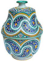 One Kings Lane Vintage Moroccan Lidded Jar with Pattern