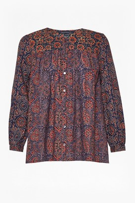 French Connection Marietta Mix Smock Top