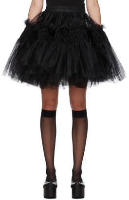 Molly Goddard Black Saskia Miniskirt