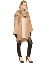 Salvatore Ferragamo Fringed Double Cashmere Cloth Coat