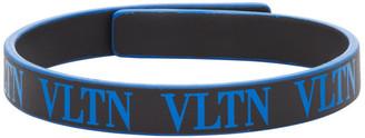 Valentino Blue and Black Garavani VLTN Bracelet
