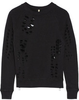 R 13 Shredded Cotton-Jersey Sweatshirt