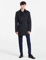 Calvin Klein Double Breasted Techno Cotton Jacket