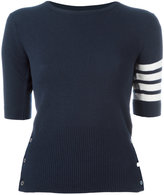 Thom Browne shortsleeved knit top