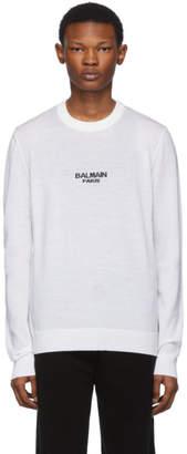 Balmain White Logo Sweater