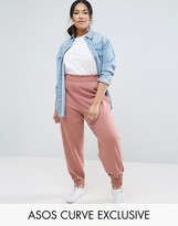 Asos Tapered Sweat Pant With Gathered Waistband And Cuff