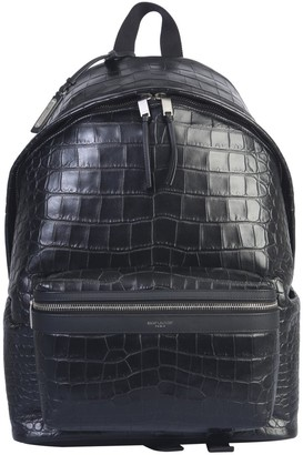 Saint Laurent City Embossed Backpack
