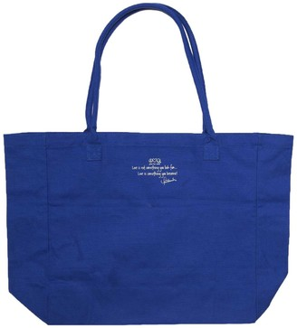 Peace Love World Luly Canvas Tote