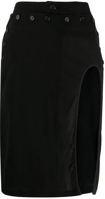 Ann Demeulemeester Cut-Out Pencil Skirt