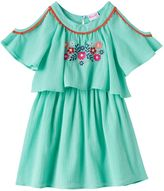 Nannette Toddler Girl Embroidered Cold-Shoulder Gauze Dress
