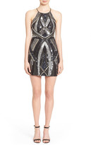 Parker Embellished Back Cutout Cocktail Dress
