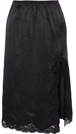 Alexander Wang Lace-Trimmed Silk Skirt