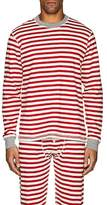 Sleepy Jones Men's Keith Striped Cotton Pajama Top
