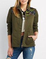 Charlotte Russe Sequin Embellished Anorak Jacket
