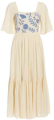 Carolina K. Juvia Short-Sleeve Embroidered Dress