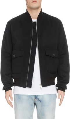 Givenchy Logo Detail Wool & Cashmere Bomber Jacket