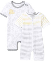 Burt's Bees Baby Organic Watercolor Shortalls - Set of 2 (Baby Boys)