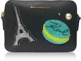 Karl Lagerfeld K/Paris Black Camera Bag w/Pearls