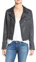 AG Jeans The Moto Coated Denim Jacket (Vintage Black Leatherette)