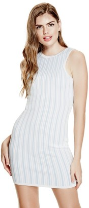 GUESS Women's Sleeveless Estelle Ottoman Stitch Dress