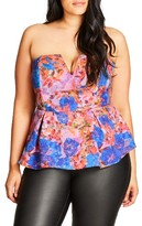 City Chic Plus Size Women's Strapless Top