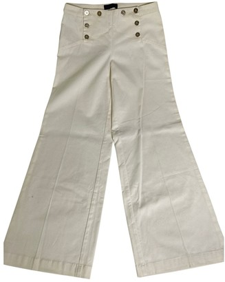 Trussardi White Cotton Trousers for Women