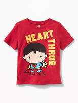 "Old Navy DC Comics Superman ""Heart Throb"" Tee for Toddler Boys"