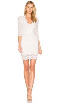 Nightcap Clothing Fiesta Deep V Dress in White. - size 3 (also in )