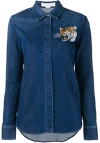 Stella McCartney Tiger Embroidered Denim Shirt