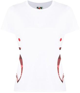 A Bathing Ape shark teeth-print short-sleeved T-shirt