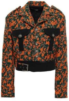 Versace Buckle-detailed Jacquard Jacket
