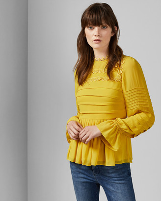 Ted Baker ROOBEE Pintuck lace detail top
