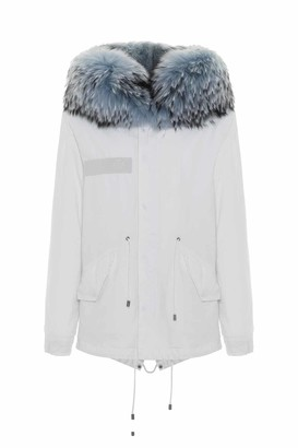 Mr & Mrs Italy Jazzy Mini Parka For Woman With Raccoon Fur