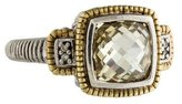 Judith Ripka Canary Quartz & Diamond Ring