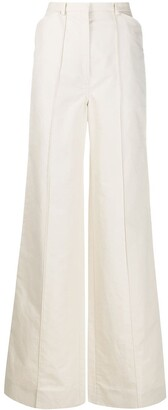 Lemaire High Waisted Flared Leg Trousers