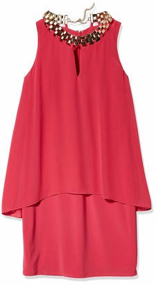 Laundry by Shelli Segal Women's Pop Over Chiffon Cocktail