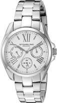 Stuhrling Original Women's 494.01 Symphony Regent Dynamo Quartz Day and Date Stainless Steel Bracelet Watch