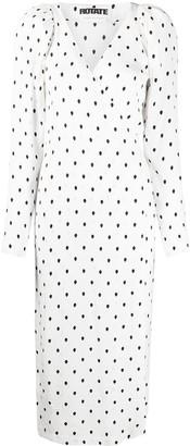 Rotate by Birger Christensen Polka Dot Wrap Dress