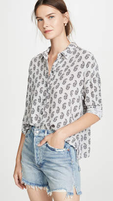 James Perse Paisley Print Boxy Shirt