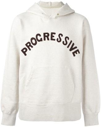 Visvim stylised patch hoodie
