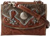 American West Texas Two Step Shoulder Flap Crossbody Bag,