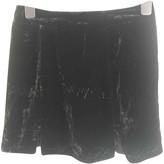 For Love & Lemons Black Velvet Skirt for Women