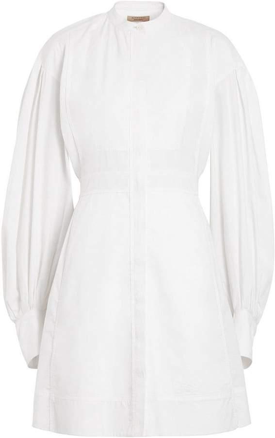 Burberry Puff-sleeve Cotton Shirt Dress