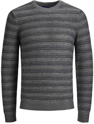 Jack and Jones Men Extra Fine Cotton Acrylic Crew Neck Long Sleeve Sweater