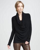 Vince Draped Knit Sweater, Black