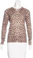 Equipment Leopard Print Wool-Blend Sweater