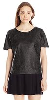 Calvin Klein Jeans Women's S/Coated Lace Top