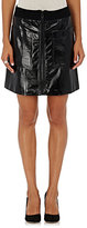 Lisa Perry Women's Leather A-Line Miniskirt-BLACK