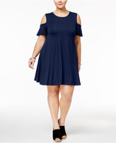 Style&Co. Style & Co Plus Size Flutter-Sleeve Cold-Shoulder Dress, Only at Macy's